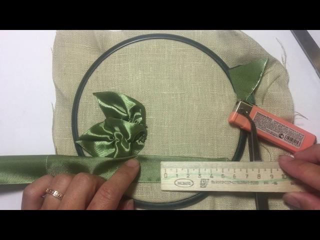 Лист из атласной ленты Sheet from satin ribbon