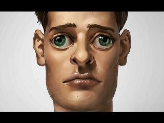 Digital Painting Process - Unsettling Portrait
