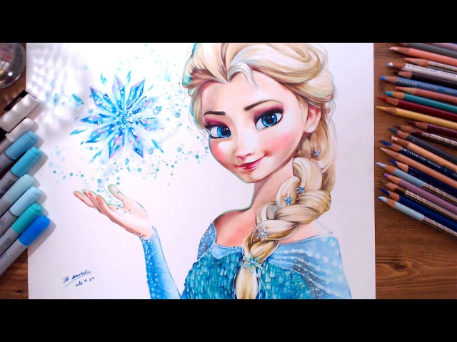 Drawing Elsa (Frozen) | drawholic