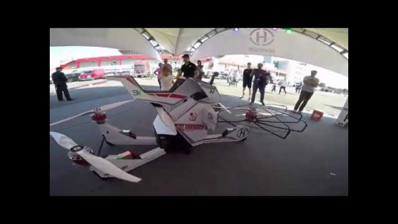 Русский летающий мотоцикл Hoverbike S3 на Moscow Raceway – максималка Hoversurf на гоночной трас...