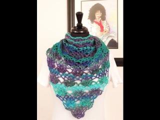 Crochet Pañuelo en Punto Calado 27 en V