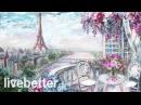 Кафе Париж романтическая французская романтическая традиционная инструментал
