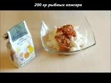 Пирожки жареные с рисом и рыбой