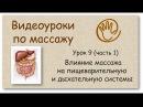 Влияние массажа на пищеварительную и дыхательную системы | Урок 9, часть 1 | Обучение массажу