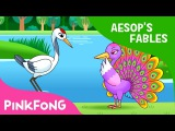 The Peacock and the Crane Aesop's Fables Pinkfong Story Time for Children
