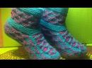 Вязание спицами тапочки-сапожки 73