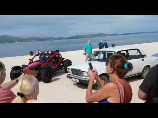 The Grand Tour filming in Zadar (Croatia) with Audi TT RS, Ariel Nomad & Lada
