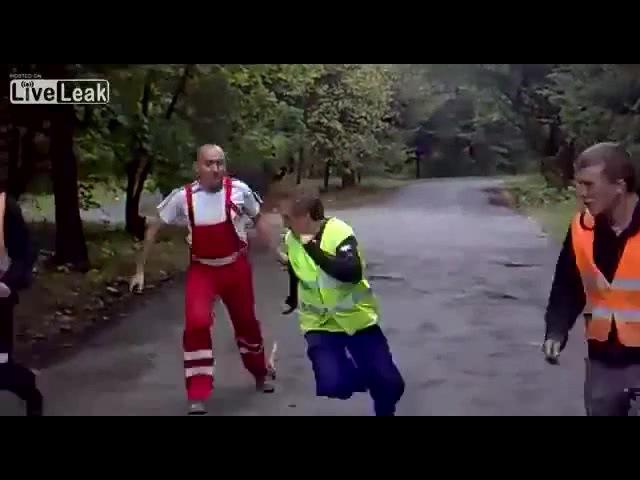 Змея напала на робочих в Польше. · coub, коуб