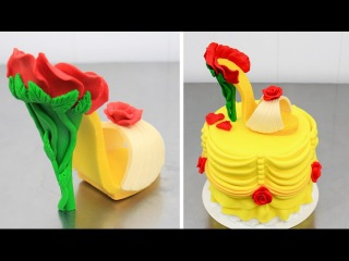Princess Belle's CHOCOLATE SHOE Beauty and the Beast Cake How To by CakesStepbyStep