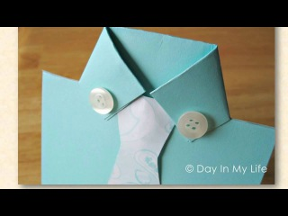 Открытки к 23 февраля Открытка оригами Рубашка Мастер - класс