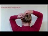 Как Делать Пучок на Голове из Длинных Волос Видео Урок 3 Варианта Прически Самой себе