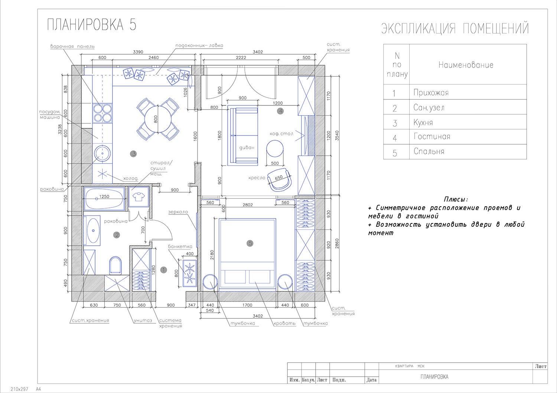 Концепт квартиры 50 м.