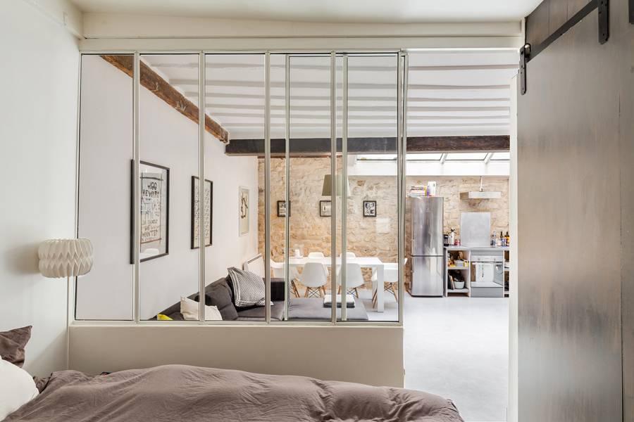 Мансардная квартира-студия 41 м в Париже.