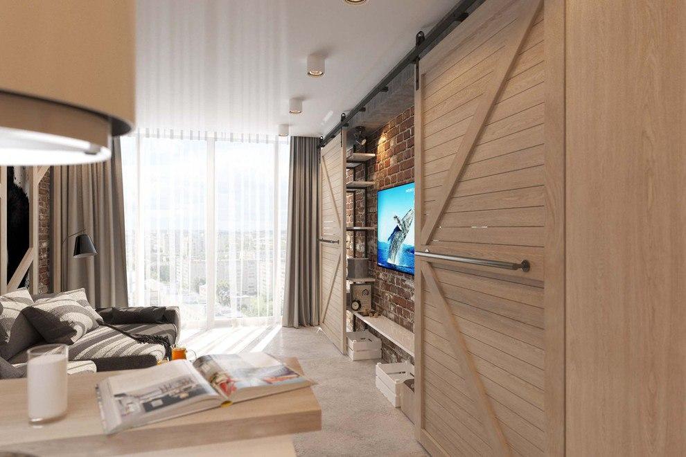 Проект квартиры 32 м под лофт.