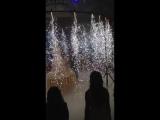 Фейерверки, холодный фонтан во время подачи торта