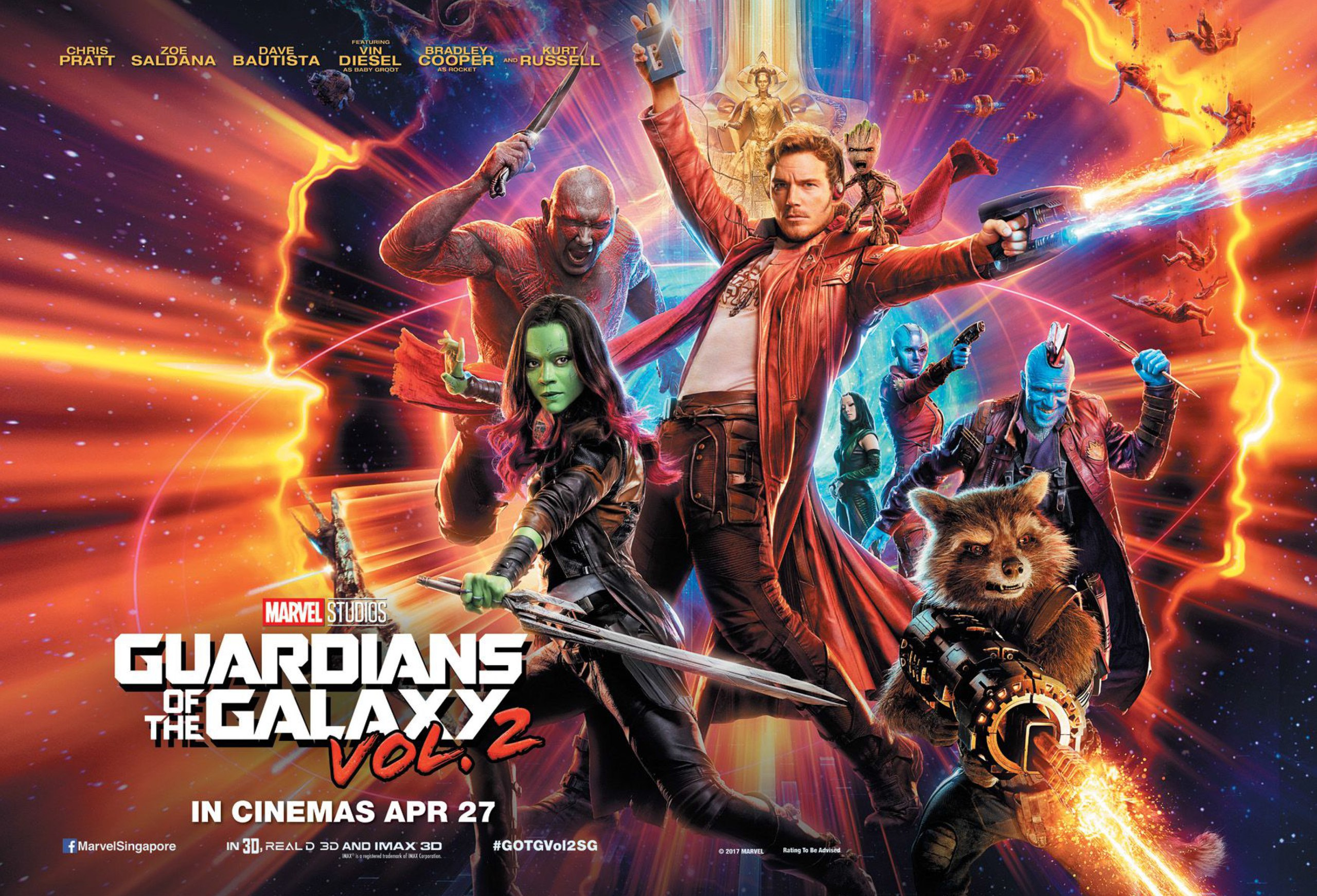 فيلم الاكشن Guardians of the Galaxy Vol. 2 2017 مترجم ( HD All BluRay )