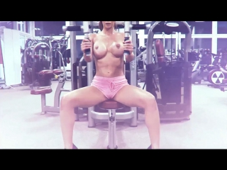 #Micaela_Schafer - in the gym naked (March 2017)