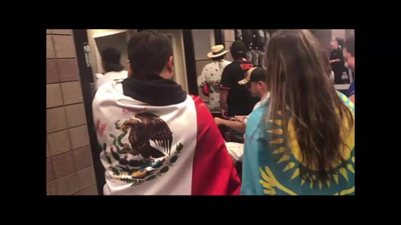 Қазақстандық және мексикалық жанкүйерлер салмақ өлшеу кезінде CaneloGolovkin » Freewka.com - Смотреть онлайн в хорощем качестве
