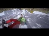 Вот так за 5 дней я научился падать на сноуборде)) Смотрим и смеемся)))