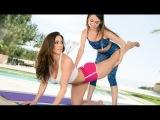 Teacher of yoga lesbian seduces girl ! KENDRA LUST &amp RILEY REID
