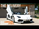 Delivery of a 2017 Lamborghini Aventador LP700 4 Roadster in Bianco Isis