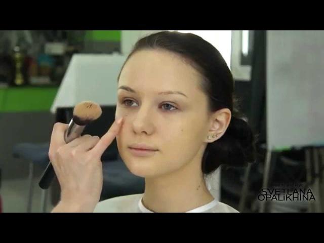 Пошаговый видео урок Экспресс макияж в домашних условиях от Светланы Опалихиной