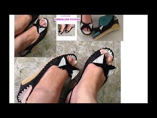 Sandalias tejidas, zapatos tejidos. tutorial completo, bien explicado