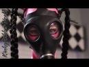 Latex Lara with gasmask