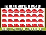 Spot The Odd Morphle and Emoji Out