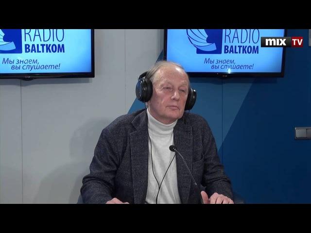 Российский писатель-сатирик, юморист, актер Михаил Задорнов в программе