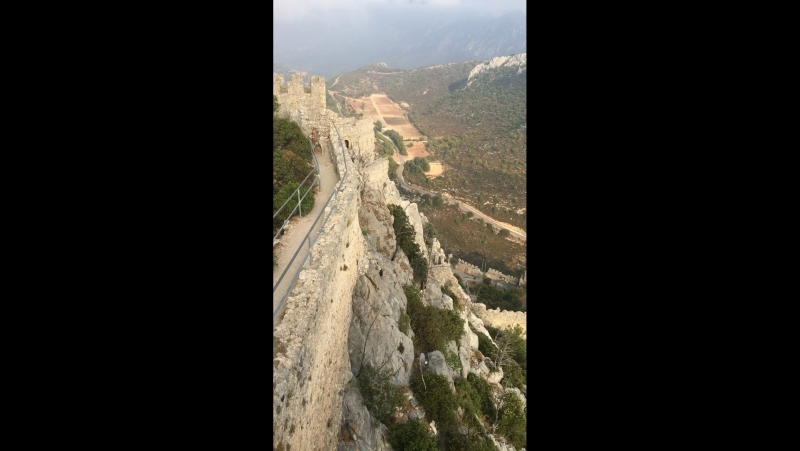 From the top of St. Hilarions castle