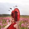 Свадебные, вечерние шляпки и вуалетки, фетровые