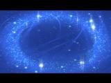 Футаж Звездочки частицы голубые