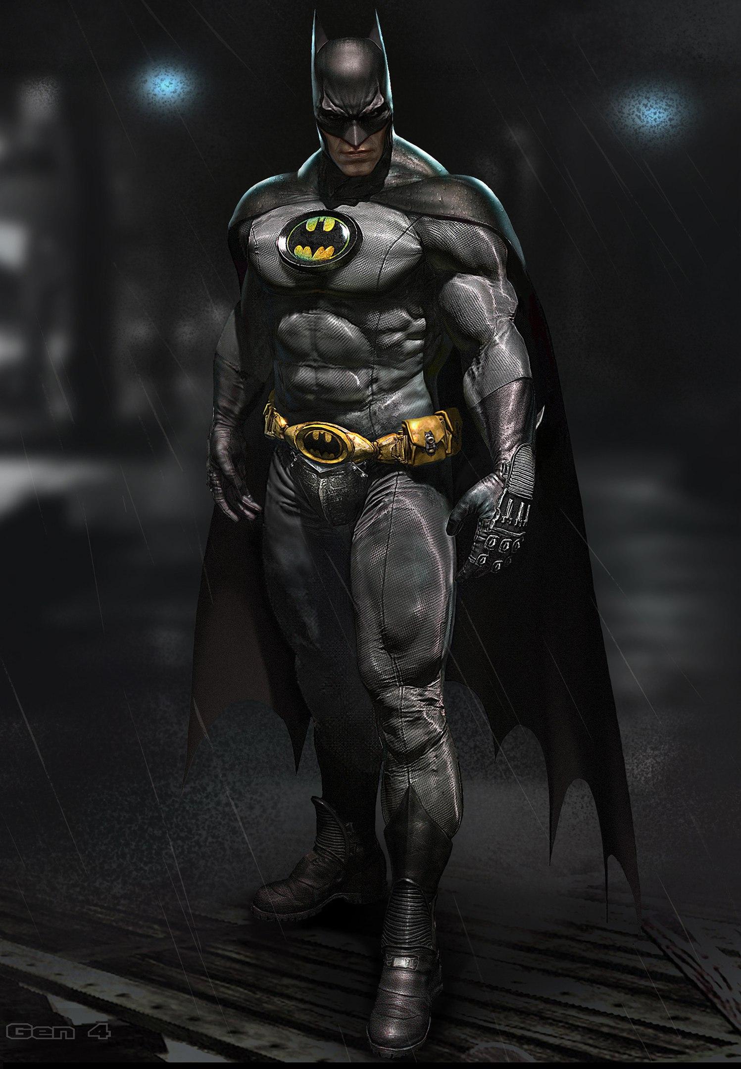 Бэтмен в дождливую ночь