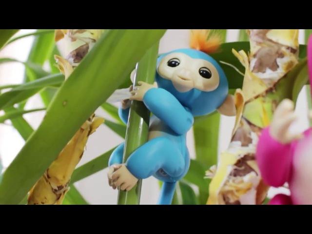 Игрушка обезьянка. Интерактивная обезьянка Fingerlings от WowWee