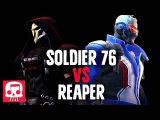 SOLDIER 76 VS REAPER RAP BATTLE by JT Machinima