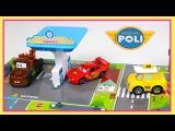 Robocar Poli, Cap &amp McQueen driving in the city Robocar Poli Toys Cars for Kids Trucks for children
