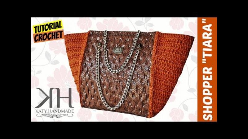 [BORSE] Tutorial uncinetto shopper bag Tiara | Lavorazione su rete || Katy Handmade
