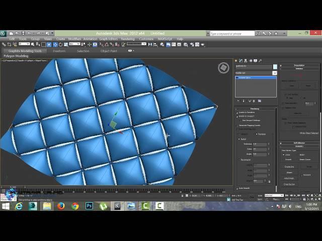 Create 3d sofa template in 3ds max - in arabic darija