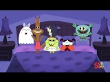 Five Little Monsters Jumping On The Bed Kids Halloween Song Super Simple Songs