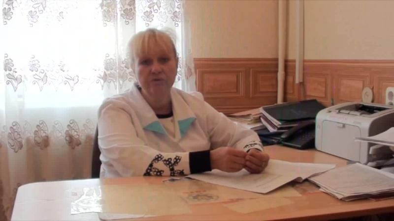 Выступление заведующей родильным отделением Мценской ЦРБ Швец И. В.