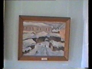 Экспозиция мемориальной выставки художника Николая Пшизова. Костромской художественный музей. 1999 год.