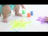 Фрагменты занятия, посвященному тренировке внимания, развитии моторной функции, цветовосприятия.  Мы любим своих детей! 💜