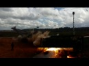 Полигон Лужский. Вертолет выпускает ракету по Камазу Вучэнні Захад-2017 Белсат