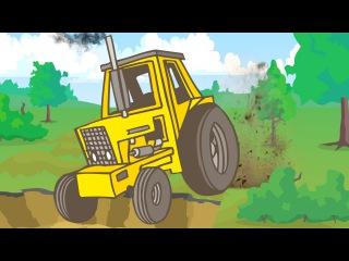 Der Gelbe Traktor und Der Lastwagen - Die große Autos für Kinder - Cartoon für Kinder