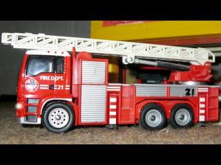 Le Camion de pompier Rouge et ses amis pour bébés - Dessin animé français - Voitures Pour Enfants