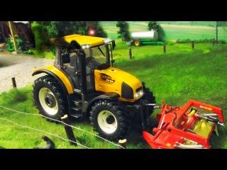 Bagger Kinderfilm deutsch - Der Gelbe Traktor und Der Bagger - Lernen und bauen - Cartoon für Kinder