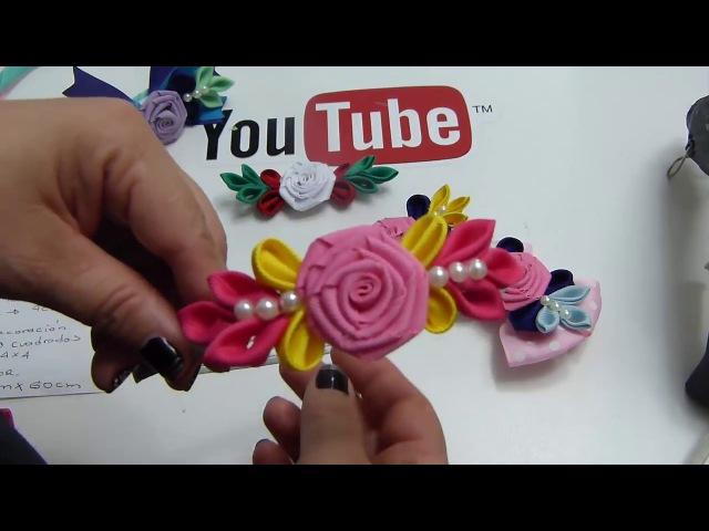 Diy, Lindos y fáciles lazos pares para Niñas/flor Rococo facil de elaborar/ vídeo 603