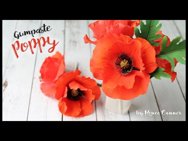 Gumpaste Poppy Renee Conner