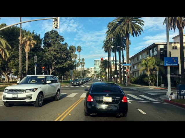 Driving Downtown - LAs Ocean Avenue 4K - Santa Monica USA